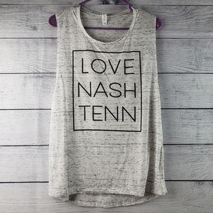Bella Love Nash Tenn Heathered Muscle Tank XL